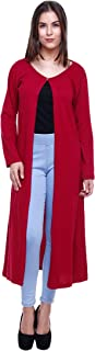 Rane Women's Cotton Shrug (SCRS017_XL_Maroon_X-Large)