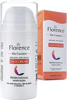 Grande 100ml. Bio Crema Hidratante facial con Ácido Hialurónico Retinol y Vitamin C. 20+Ingredientes Orgánicos Antiedad y...