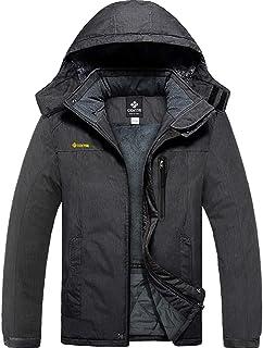 GEMYSE Men's Mountain Waterproof Ski Snow Jacket Winter Windproof Rain Jacket