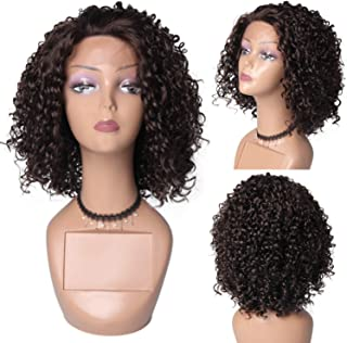 HAIR WAY Kinky Curly Lace Front Wigs Heat Resistant Fiber Synthetic Lace Wigs for Daily Wear Heavy Density Hair Wigs for Women Half Hand Tied #4 color 14inch - coolthings.us