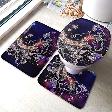 Moon 3pc Bathroom Set Ceramic For Home Office Bathroom Toilet Accessories Set