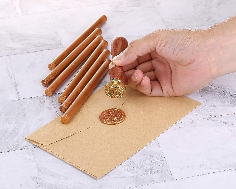 Kupferrotgold Yoption 15 St/ück Klebepistole Siegelwachsst/äbe f/ür Wachssiegelstempel ideal f/ür Hochzeitseinladungen Karten Umschl/äge