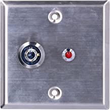 Access Control Switch, Tamper Signal Function Key Operated Switch 2 Round-Hole Keys for Emergency Exit for Spare Stairs fo...