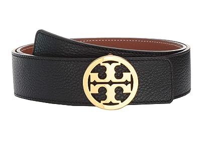 Tory Burch 1.5 Reversible Logo Belt (Black/New Cuoio/Gold) Women