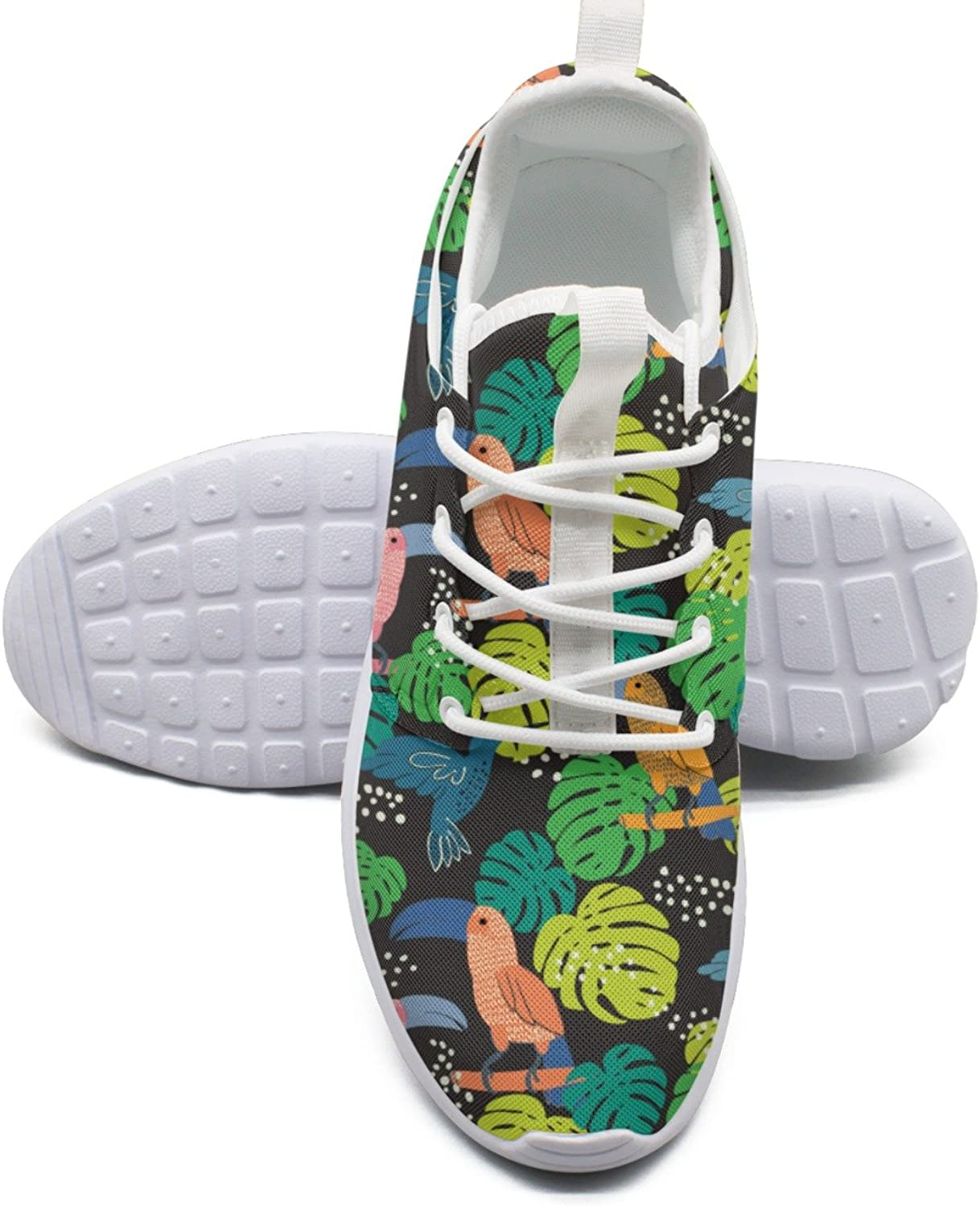 ERSER Abstract Hand Painted Toucan Facts Road Running shoes Women
