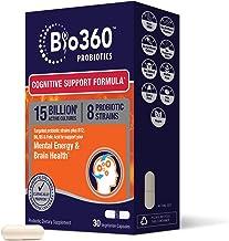 Bio360 Probiotics   Cognitive Support Formula   Brain Health & Mental Energy Probiotic for Women and Men   Vitamin-enriche...
