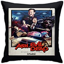 CHENYING Ash Vs The Evil Dead Pillow Cases Printing Bolster Square Pillow Cases Hidden Zipper 100% Polyester 20X20Inch