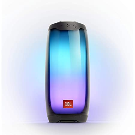 JBL Pulse 4 - Portable Bluetooth Speaker with 360 degrees LED lights, powerful sound and deep bass, IPX7 waterproof, 12 hours of playtime, JBL PartyBoost for multiple speaker pairing (Black)