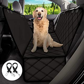 H HOME-MART Dog Car Seat Cover for Dogs, Waterproof with Door Protection, Durable Nonslip Scratch Proof Washable Pet Back ...