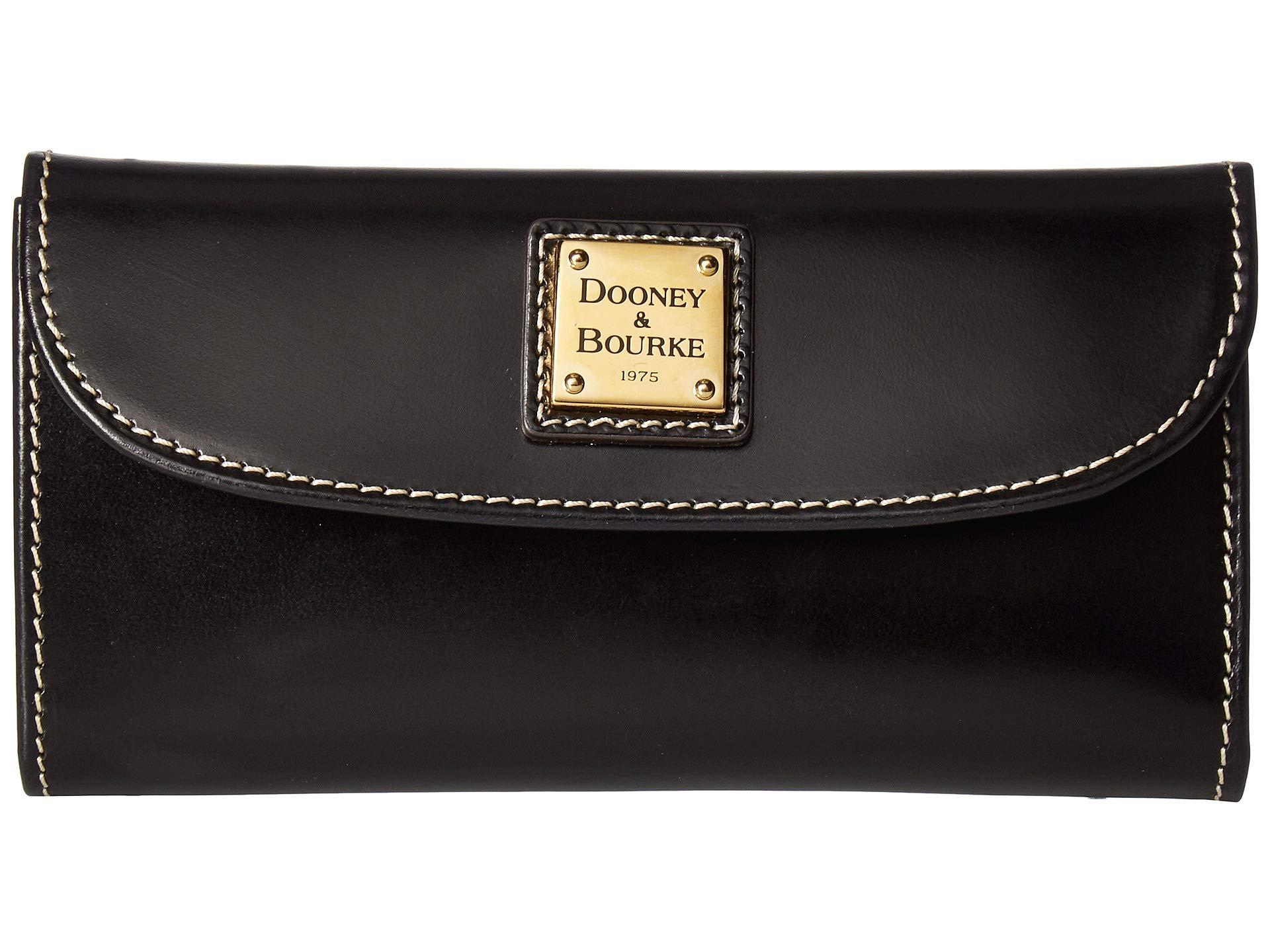 amp; Dooney Bourke black Black Selleria Trim Continental Clutch 4dqwBCd