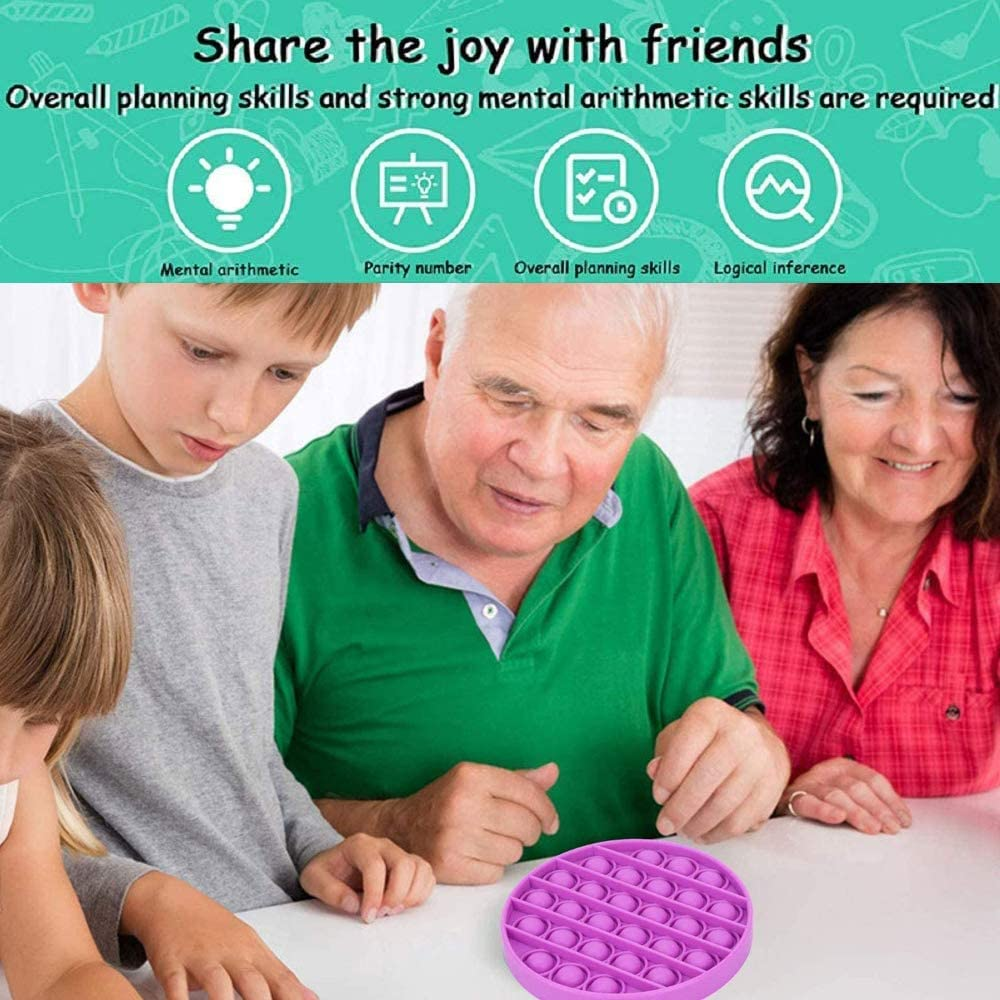 Autism Special Needs Stress Reliever Silicone Stress Reliever Toy Squeeze Sensory Toy for Kid and Adult Purple Orange Heart Push pop pop Bubble Sensory Fidget Toy Octagon Blue