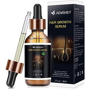 AOVSHEY Haarwachstum Serum 60ML Anti-Haarausfal Haarserum für Haarserum Beschleunigen für Frauen und Männer für dünnes Haar, Verdickung & Nachwachsen Behandlung gegen Haarausfall Haarwurzeln stärken