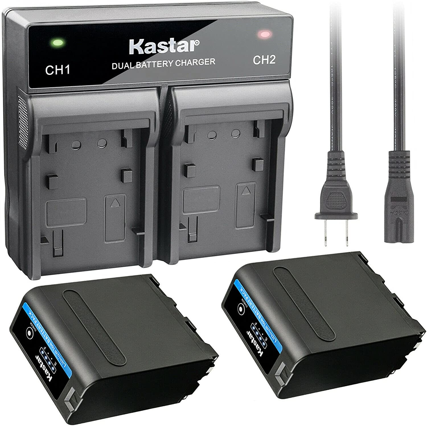 Kastar 2 Pack Battery and overseas Rapid Charger NP- NP-F990 PRO Dual for New York Mall