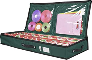Primode Storage Organizer for 30 Inch Wrapping Paper, Ribbon and Bows Green