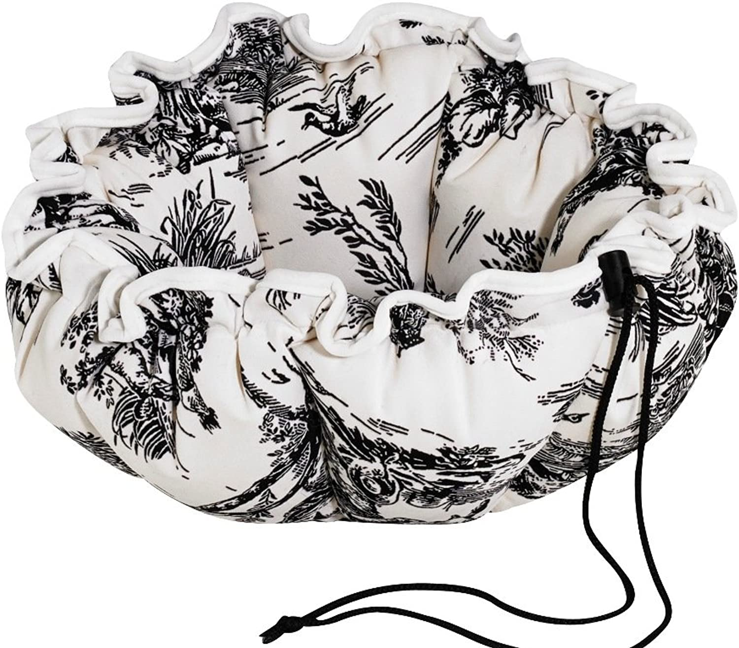 Buttercup Dog Bed, Small, Onyx Toile