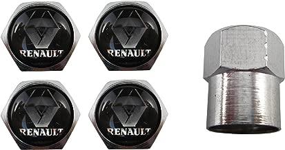 DGdolph 4PCS Set Car-Styling Rueda Neum/ático Llanta Tapas de llanta Tapa de v/álvula de Metal para Renault Plata