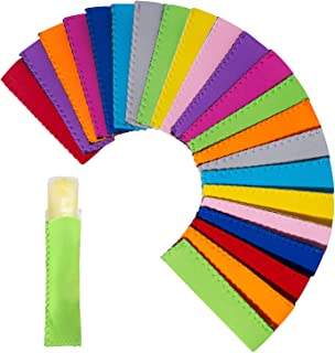 Ozera Popsicle Holder, 22 Pack Ice Pop Sleeves, Reusable Neoprene Freezer Pop Sleeves Holder Popsicle Bags, 10 Colors