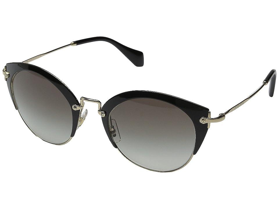 Miu Miu 0MU 53RS (Black/Grey Gradient) Fashion Sunglasses