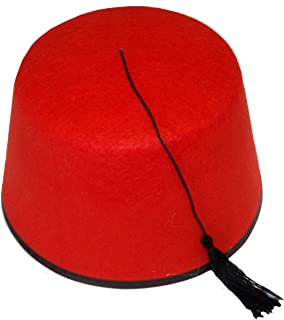 Funny Fashion Felt Black Red Who Doctor Fez Hat Shriner Turkish Moroccan Cap Costume Accessory