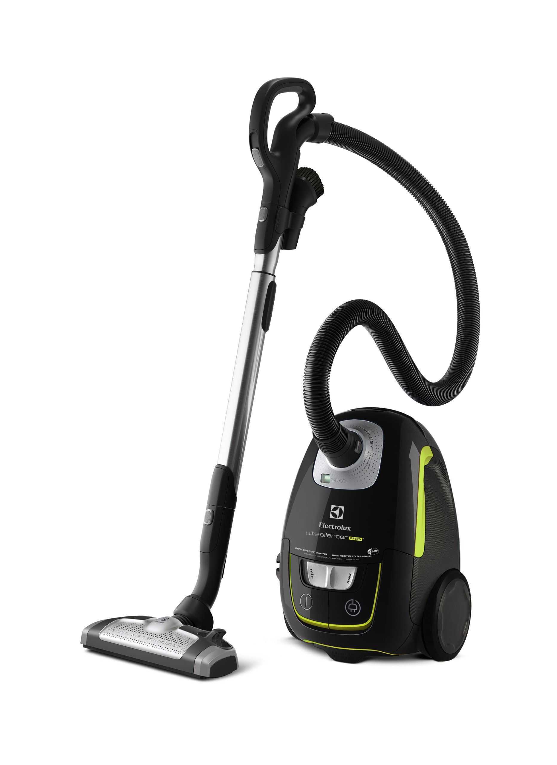 Electrolux UltraSilencer Green – Aspirador silencioso con bolsa y cepillo AeroPro Parketto Pro, color negro ébano y verde: Amazon.es: Hogar