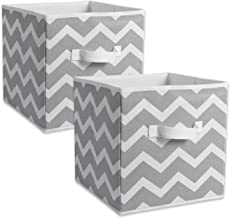 "DII Chevron Storage Bin, Small 11x11x11"", Gray, 2 pieces"