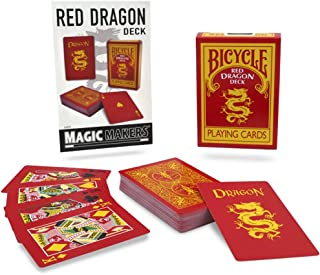 Magic Makers Bicycle Red Dragon Deck - Reverse Back Specialty Bicycle Card Deck