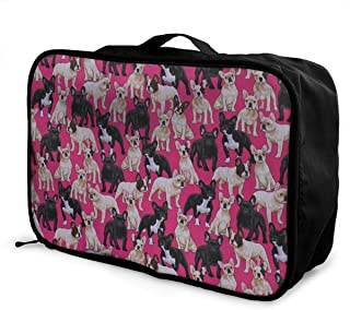 Travel Luggage Duffle Bag Lightweight Portable Handbag Dog Pattern Large Capacity Waterproof Foldable Storage Tote
