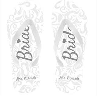 personalised wedding flip flops