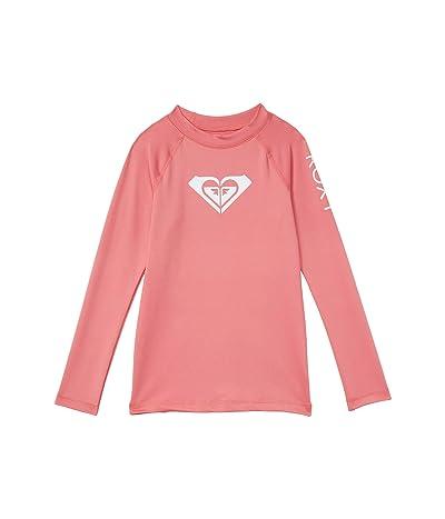 Roxy Kids Whole Hearted Long Sleeve Rashguard (Toddler/Little Kids/Big Kids) (Desert Rose) Girl