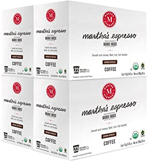 Martha Stewart Coffee Martha's Espresso by Barrie House - Single Serve Capsules 88 count