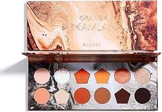 ELLESY Pigmented Eyeshadow Palette Matte + Shimmer 12 Colors Makeup Natural Bronze Neutral Smokey Blendable Waterproof Eye Shadows Cosmetic - E-1204