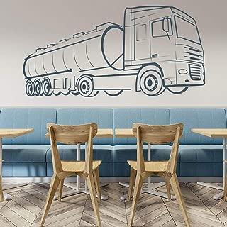 Pegatinas de pared Camión Cisterna De Petróleo Sala De Estar Tatuajes De Pared Habitación Para Adolescentes Aula Decoración Para El Hogar Murales De Arte 42 * 81 Cm