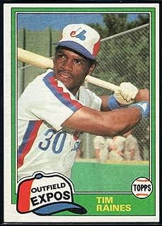 Baseball MLB 1981 Topps Traded #816 Tim Raines Expos