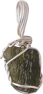 FASHIONZAADI Moldavite Tatva Gemstone Raw Rough Stone unpolished Crystal for Meditation Collecting Natural Healing Aura & ...