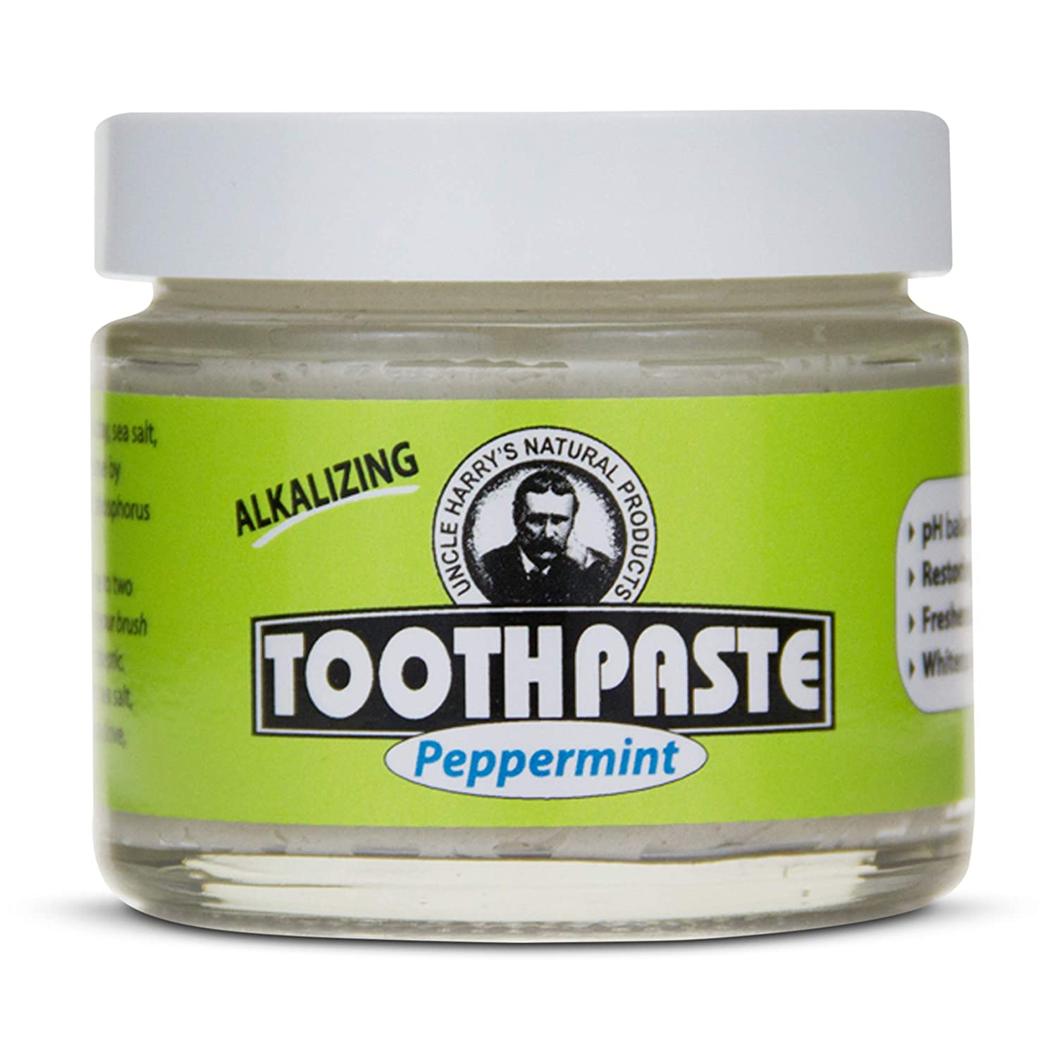 Uncle Harry's Classic Peppermint overseas Remineralizing Natural Toothpaste Whi