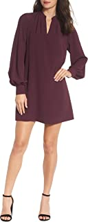 French Connection Women's V-Neck Dress, Plum Noir