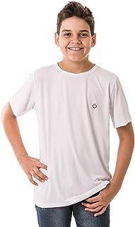 Camiseta Infantil Masculina com Proteção Solar Manga Curta Extreme UV Ice