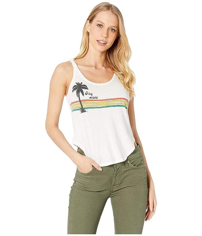 Chaser One Love Palm Vintage Jersey Shirttail Tank (Jasmine) Women