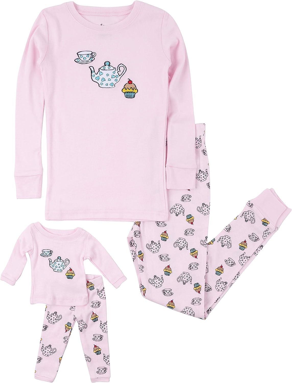 Leveret Kids /& Toddler Pajamas Matching Doll /& Girls Pajamas 100/% Cotton Pjs Set Fits American Girl Toddler-14 Years