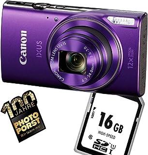 1A Photo PORST Starter aanbieding Canon Ixus 285 HS Lila+SD 16 GB geheugenkaart