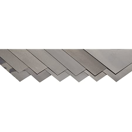 Cold Rolled Assorted 6/″ x 12/″ Sheets Precision Brand 16AF12 12 Piece Steel Shim Stock Low Carbon 1008-1010 Steel