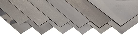 Hard Temper Matte Finish 0.093 Thickness AISI 1008//AISI 1010 Pack of 10 5//8 OD 1008//1010 Carbon Steel Notched Shim 3//8 ID