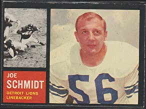 1962 Topps Joe Schmidt Lions Football Card #59