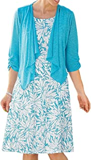 Perceptions New York Lace Jacket Dress Turquoise 20 Women