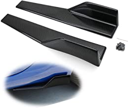 iJDMTOY Left/Right Black Carbon Fiber PP Universal Rear Side Skirt Winglets Diffusers Compatible With Car Truck SUV