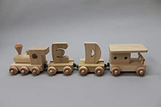 Toy wood train, 2 letter name