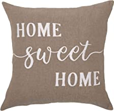Piper Classics Home Sweet Home Throw Pillow Cover, 20 x 20, Farmhouse Style Accent Pillow with Embroidered Lettering