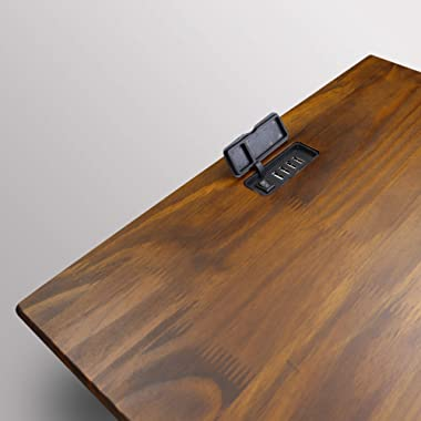 Casual Home Night Owl Nightstand with USB Ports-Warm Brown