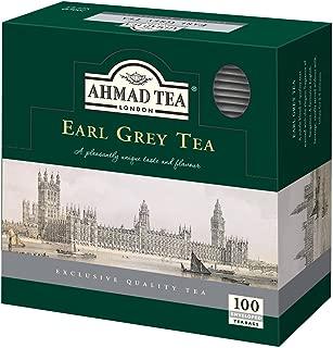 Ahmad Tea Earl Grey Teabag, Enveloped, 100 Count (Pack of 12)