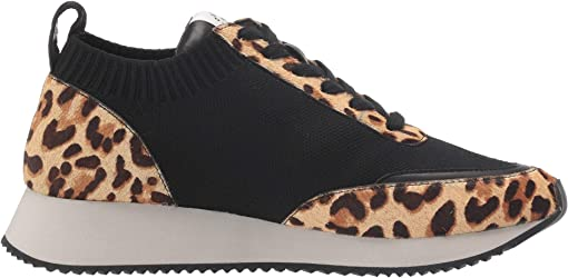 Black Knit/Light Leopard